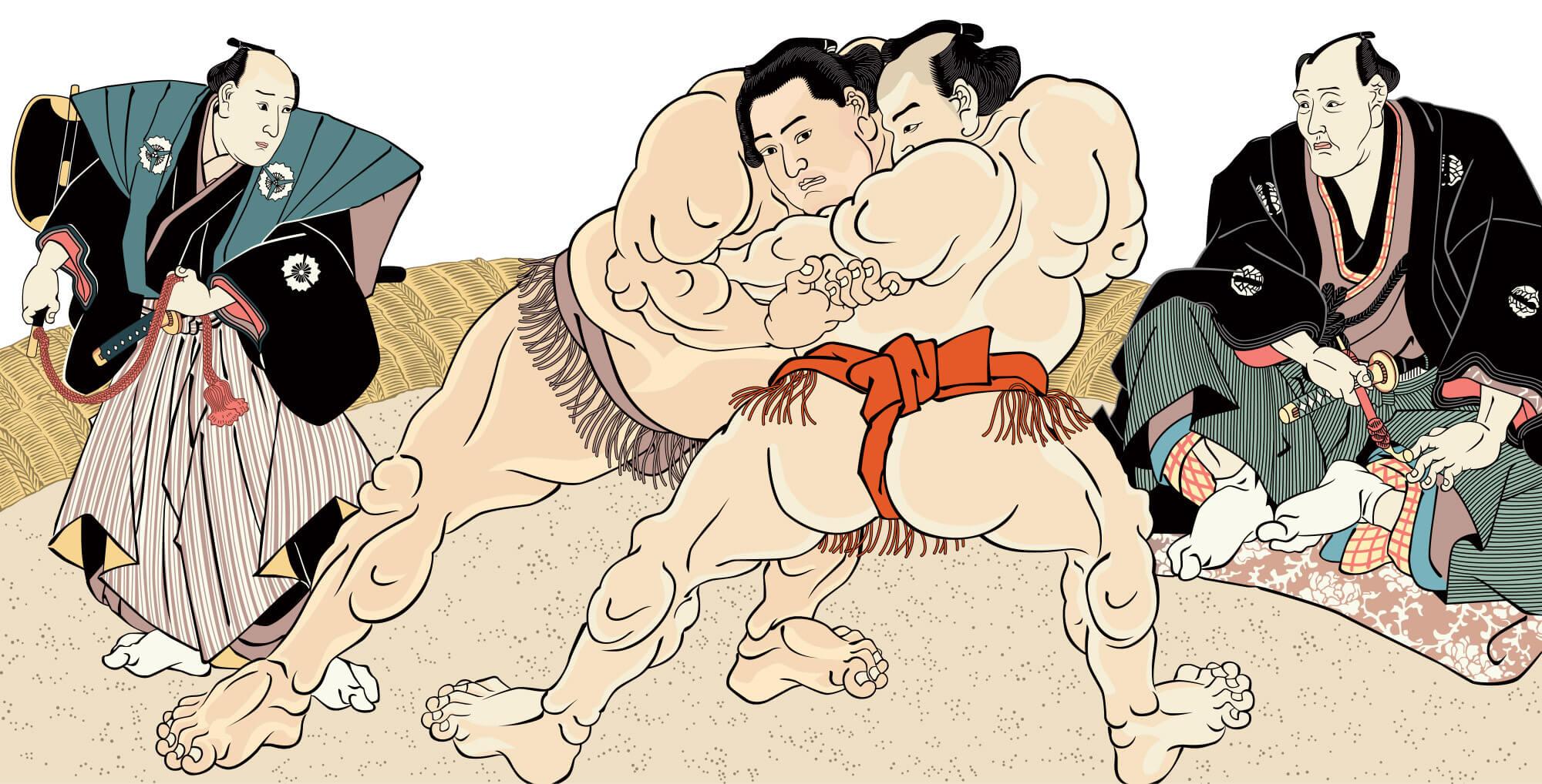 sumo ukiyoe