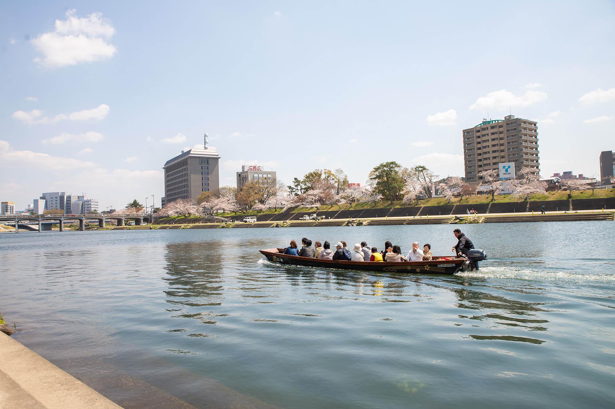 Cruise service in Okazaki Park