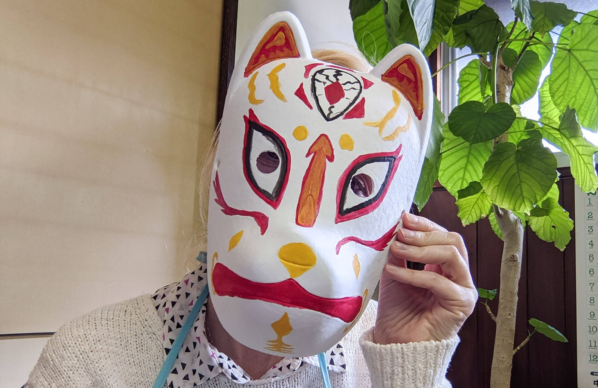 Japanese Fox Mask painting experience